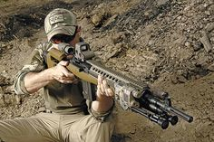 Magnifier and Eotech on an M14