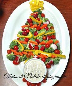 Albero di Natale pinzimonio - ricetta centrotavola