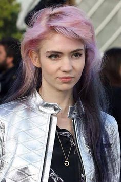 grimes. Pink to lilac to black
