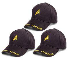 Star Trek Uniform Hats---for me and my Trekkie buddies ;)