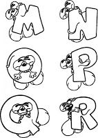 Mouse Alphabet Coloring Pages | Kids coloring pages