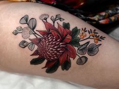 Here are flower tattoo design ideas! These tattoos are very beautiful. tattoos with flowers and small animals will have more special significance. Ems Tattoos, Great Tattoos, Future Tattoos, Body Art Tattoos, Tattoo Ink, Tatoos, Flower Tattoo Back, Flower Tattoo Designs, Native Tattoos