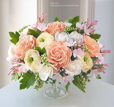 Цветы ручной работы. Композиции : Букет с розовым жасмином - Fito Art