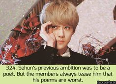 Exo Facts. Ahhh! Sehunnie! I love them lol <3 8g Milk forever! <3