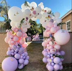 Balloon Arch Diy, Balloon Wall, Balloon Garland, Balloon Decorations, Birthday Decorations, Baby Shower Decorations, Butterfly Baby Shower, Butterfly Party, Butterfly Birthday