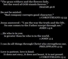 scriptures to meditate on.