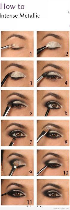 Intense Metallic smokey eye tutorial