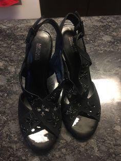 Woman's heels black great shape .
