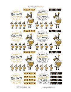 Black & Gold Glitter Birthday