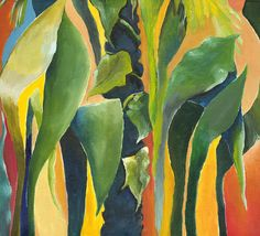 Contemporary Painting Plant Life Green Art by NickySpauldingArt, $150.00