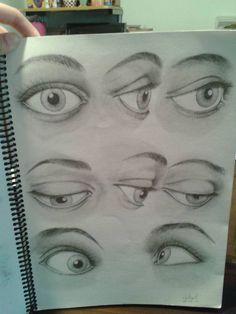 Ojos I (grafito) por nadia