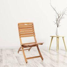 Haste Garden Nico Wood Folding Chair | Wayfair New Living Room, Living Room Chairs, Living Room Furniture, Living Spaces, Best Folding Chairs, Wood Folding Chair, Outdoor Chairs, Outdoor Furniture, Outdoor Decor
