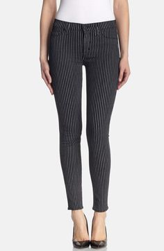 95247d68b5b Hudson Jeans 'Nico' Super Skinny Jeans (Anarchy Pinstripe) available at  #Nordstrom