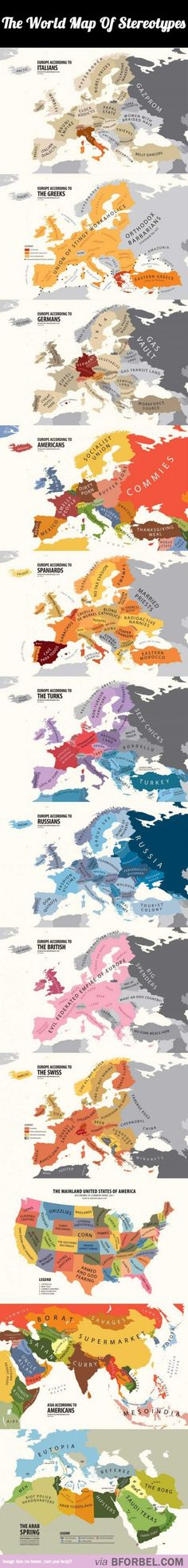 The World Map Of Stereotypes…