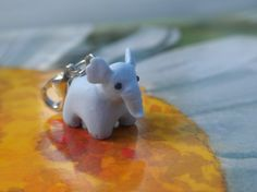 Polymer clay elephant by claypotater on Etsy