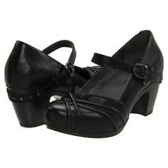 Women's Maryjane Shoes - Black Full Grain Leather~~this