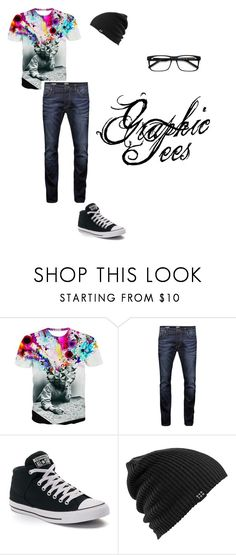 """Men's Graphic Tee"" by kayti284breezete ❤ liked on Polyvore featuring Jack & Jones, Converse, Burton, Ace, men's fashion and menswear"
