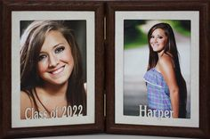 PERSONALIZED CLASS OF 2020 (Or Any Year You Need) & Name Double Hinged Portrait Frame ~ Graduation/Graduate Keepsake Gift Frame Text Frame, Name Frame, Poetry Frames, Poetry Photos, Grandparent Gifts, Class Of 2020, Wedding Frames, Christmas Photos, To My Daughter