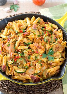 Italian Chicken and Prosciutto Pasta Skillet