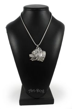NEW Lakeland Terrier dog necklace silver chain by ArtDogshopcenter Dog Necklace, Silver Chain Necklace, Silver Necklaces, Lakeland Terrier, Terrier Dogs, Pitbulls, Diamond, Unique Jewelry, Bull Dog