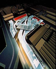 Zaha Hadid, National Center of Contemporary Art, Rome, 1997 Zaha Hadid Interior, Zaha Hadid Architecture, Chinese Architecture, Concept Architecture, Classical Architecture, Futuristic Architecture, Amazing Architecture, Landscape Architecture, Architecture Office