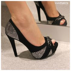 salto alto - peep toe - renda - high heels - party shoes - Inverno 2015 - Ref. 15-4105