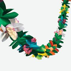 Fun Express - Paper Tissue Flower Garland for Party - Party Decor - Hanging Decor - Garland -. Fun Express - Paper Tissue Flower Garland for Party - Party Decor - Hanging Decor - Garland - Party - 1 Piece Tissue Garland, Paper Flower Garlands, Tissue Flowers, Paper Flowers, Floral Garland, Hawaiian Party Decorations, Hawaiian Luau Party, House Decorations, Wedding Decorations