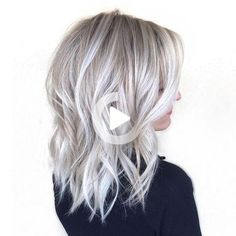 There were a lot of great beauty trends in 2016! Check out the best of the best - trends that I call the best of the year 2016! Short Balayage, Balayage Hair, Ombre Hair, Wavy Hair, Blonde Bob Hairstyles, Black Women Hairstyles, Silver Blonde Hair, Blonde Bobs, Long Bob
