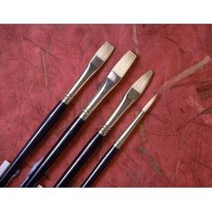 Princeton Artist Brush Chinese Bristle Flat Brush (Set of 2) Size: 6