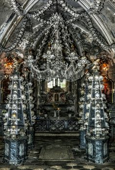 The Bone Church in Kutna Hora, eerie but interesting