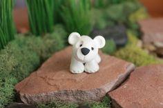 Polar Bear - Polymer Clay - Terrarium Accessory - Fairy Garden - Miniature Garden - Accent Made to Order