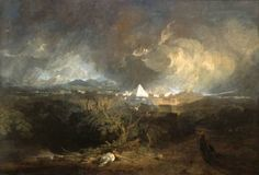 Joseph Mallord William Turner 'The Fifth Plague of Egypt', exhibited 1800 - Oil paint on canvas - Dimensions Support: 1244 x 1830 mm - © Indianapolis Museum of Art, Gift in memory of Evan F. Lilly