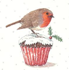 advoc- Christmas Robin 1 (cupcake).JPG, Gail Glaser, Representing leading artists who produce children\'s and decorative work to commission or license., Advocate-Art