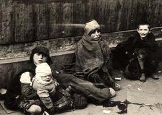 Warsaw, Poland, Children begging in the ghetto, 1940-1943.