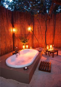 Outdoor Bathroom at Kosi Forest Lodge, South Africa