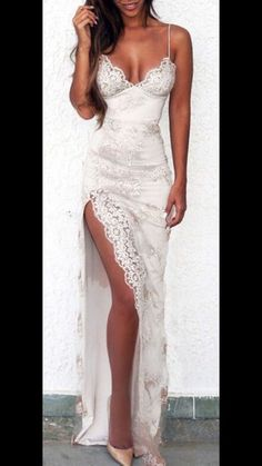 Newest Prom Dress,Spaghetti Straps Prom Dress,Lace Evening Prom Dress,white Evening Dress, Shop plus-sized prom dresses for curvy figures and plus-size party dresses. Ball gowns for prom in plus sizes and short plus-sized prom dresses for Straps Prom Dresses, V Neck Prom Dresses, Sexy Dresses, Formal Dresses, Dress Prom, Wedding Dresses, Fall Dresses, Lace Weddings, Dress Straps