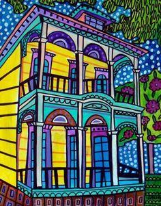 Code ACORN50 - Mardi Gras Art - New Orleans Art French Quarter Art Art Print…