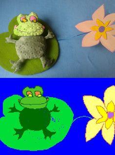 Жаба по детскому рисунку