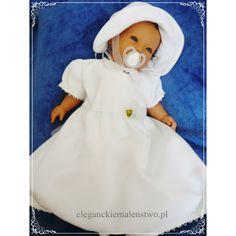 """Wygodne #ubranko do #chrztu """"Basia"""" jest wykonane z bawełny i podszyte tiulem. Sukieneczka jest 3- warstwowa z krótkim lub długim rękawem."""