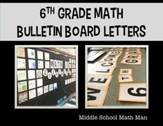 6th Grade Math Bulletin Board Letters