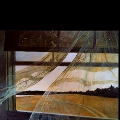 """""""Wind from the Sea"""" - Andrew Wyeth, 1947.  a favorite of mine..."""