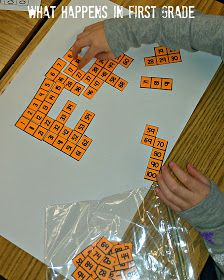 Math Station - 100's Chart Activity