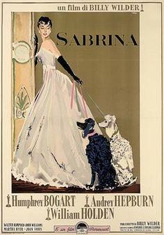 Sabrina film poster - Rare Italian poster for the 1954 Audrey Hepburn movie Sabrina, artwork by Ercole Brin