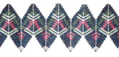 Danielle Brown rickrack McElroy, contemporanea Beadwork geometrica, 2012, Jean Power e Kate McKinnon