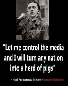 The Rise of Stupid, they listen to broadcast news and read newspapers where the truth vanishes into subjective opinion. Goebbels would be proud of his progeny.