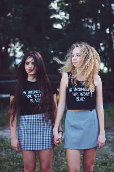 American Horror Story Coven Graphic Tee On Wednesdays We Wear Black Crop Top Tumblr Hipster on Etsy, $22.00