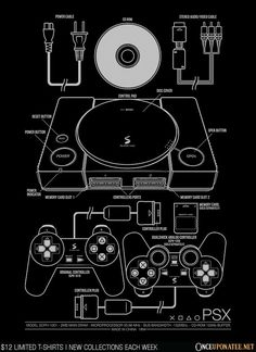 PSX Black T-Shirt - PlayStation T-Shirt is $12 today at Once Upon a Tee!