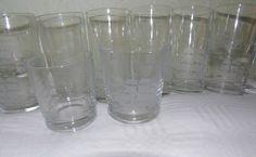 Boxed Set 12 Vintage Drinking Glasses Tumblers Galleon Design | eBay
