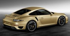 Porsche Exclusive Crafts a Gold-Painted 911 Turbo! Stunning! What do you think? Hit the image for spectacular photos... #CarPorn