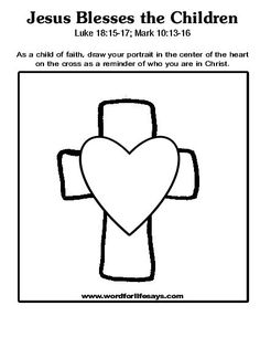 Vbs day 1 joshua 3 4 israelites cross the jordan craft for Jesus blesses the children coloring page
